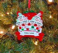 Bed Heads Family Of 6 Personalized Christmas Tree Ornaments
