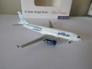 Aeroclassics Jetblue A320 Diecast 1/400 Model N598JB Inspiring Humanity