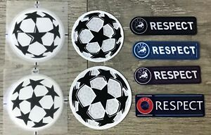 UCL UEFA Champions League Respect + Star Ball Patch Badge Parche Flicken
