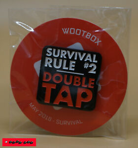 Wootbox Exclusive PIN - SURVIVAL RULE #2 - SURVIVAL - Mai 2018 - NEU+OVP