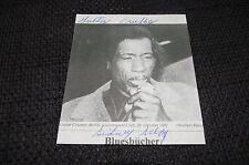"SIDNEY ""GUITAR CRUSHER"" SELBY signed Autogramm auf 11x14cm Zeitungsfoto InPerson"