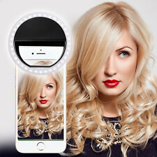 BLACK SELFIE 36 LED Flash anulare luce di riempimento Clip fotocamera per iPhone HTC Samsung LG