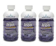 3 PACK Wellesse Iron Supplement Liquid 16oz 371401923169
