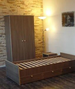 Jugendzimmer Kinderzimmer komplett Kleiderschrank Kojenbett Jugendbett BraunCafe