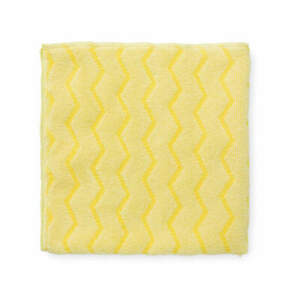 """RUBBERMAID COMMERCIAL PRODUCTS FGQ61000YL00 Microfiber Cloth,16"""" x 16"""",Yellow,PK"""