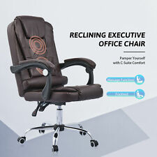 Executive Office Chair W Adjustable Height Recline Massage For Home Office More