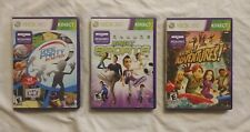 GAME PARTY IN MOTION, KINECT ADVENTURES!, KINECT SPORTS COMPLETE  XBOX 360