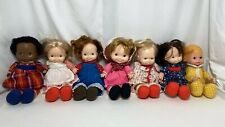 Fisher-Price Lap Sitter Dolls Vintage Lot 7 Dolls # 200 201 202 203 204 205 208