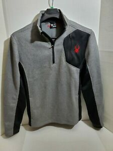 Spyder Mens Large Long Sleeve Jacket Partial Zip Casual Sport Golf Outdoor