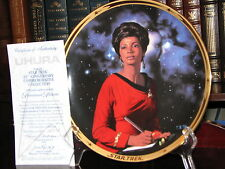 Star Trek Plate: Lt. Uhura with Certificate Of Authenticity