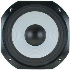 "NEW 12"" Woofer Replacement Speaker.8 ohm.Square Frame.Home Audio Bass White sub"