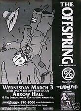 "Offspring /Ozomatli /The Living End ""Americana 1998 Tour"" Toronto Concert Poster"