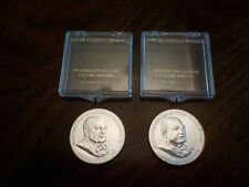 Lot of 2 Rare Silver Medals, 1969-P Westminster College Winston Churchill, 31.2g