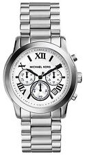 Michael Kors Ladies Chronograph Watch Stainles Steel White Dial MK5928
