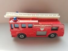 1969 Matchbox Lesney Superfast #35 Merryweather Fire Engine Traditional Wheels