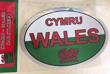 WALES Silver Welsh Flag Car Sticker Cymru Red Dragon Cymraeg Caravan Bike bn