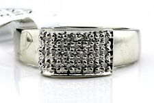 Women's 27 ct H/SI3 GIA Spec Diamond Cluster Cocktail Ring 14k Solid White Gold