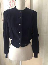 Vintage Geiger Navy Virgin Wool Sweater/cardigan xs/34 Made In Australia