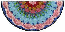 Salonloewe Fußmatte Half Crochet halbrund 60 x 120 cm waschbar Schmutzmatte