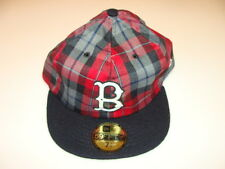 New Era Cap Hat 59FIFTY Fitted MLB Baseball Boston Red Sox 7 1/2 Custom Plaid