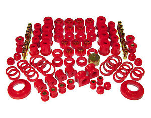 Prothane TOTAL Complete Suspension Bushing Kit FOR 97-06 Jeep Wrangler TJ  (Red)