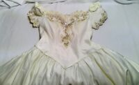 Womens size 20 plus wedding dress white bead flower zipper sequence L70
