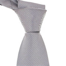 New Classic Checks White JACQUARD WOVEN 100% Silk Men's Tie Necktie