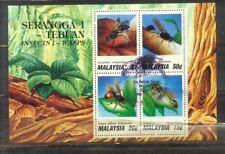 Malaysia Malaya 1991 Insects M/S CTO