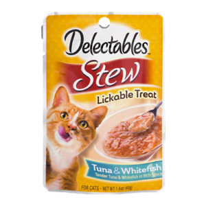 Hartz Delectables Lickable Cat Treats (6-pack) Stew Tuna & Whitefish