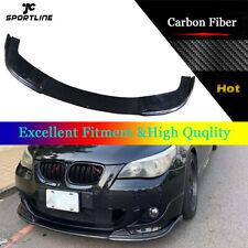 Carbon Fiber Front Bumper Lip Spoiler Trim Fit For BMW E60 M Sport 2004-2010