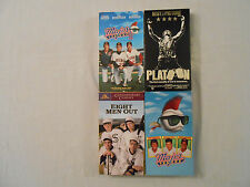 4 Charlie Sheen Movies On 4 VHS Tapes:Eight Men Out/Major League I & II/ Platoon