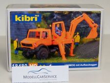 Kibri 1/87 (H0): 18480 Unimog with Excavator - Plastic Model Kit