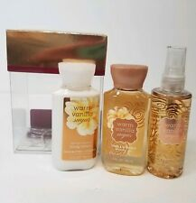 Bath & Body Works Warm Vanilla Sugar Winter Holiday Gift Set 3oz Sizes