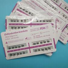 Dental Orthodontic Metal Bracket braces Mini 022 Slot Edgewise 345 hooks 50 Sets