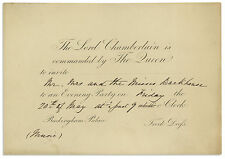Royal Invitation to Queen Victoria's Buckingham Palace