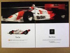 1991 Motorola Microcontroller & Marlboro Indy Car photo vintage print Ad