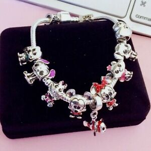 925 Silver Bracelet Come With Disney Charm As Show On Pictures 🇬🇧UK Seller🇬🇧