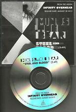 MINUS THE BEAR Steel and Blood  ULTRA RARE Tst Press PROMO DJ CD single 2012