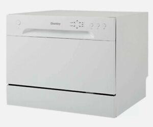 Danby 6 Place Setting Energy Star LED Countertop Dishwasher, White   DDW621WDB
