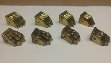 Vintage solid brass furniture claw feet. Lot of 8. Read.