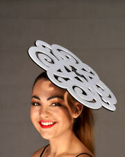Large White & Black Cutout Fascinator - BNWT - Aust Made