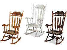 Jay Traditional Solid Wood Carved Rocking Chair White Livingroom Conservatory