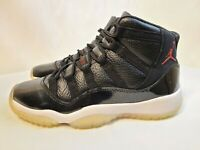 Nike Air Jordan XI 11 Retro 72-10 Black/Red 378038-002 GS Size 5Y