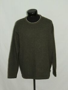 Woolrich Sportswear Pullover Sweater Brown Athletic Solid Casual Sport L Dress