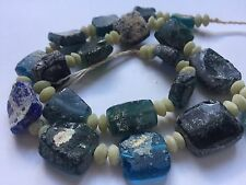 Genuine Roman Glass Fragment Beads With Patina 1000-1500 Years Old