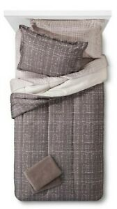*NEW* Room Essentials 9 Piece Bed & Bath Set w/ Towels - Earth Gray - Queen Size