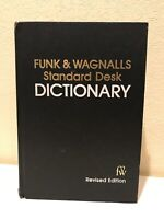 Funk & Wagnalls Standard Desk Dictionary 1977 Hardcover Thomas Crowell 890 Page