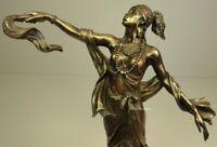 ORISHA OYA Goddess of Wind Yoruba African Statue Sculpture Bronze Finish