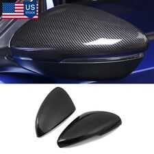 2PCS For Honda Accord 2018 Carbon fiber Style ABS Side Mirror Cover Trim US