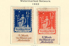 "Germany - 1922 ""Planting Charity"" Semi-Postal set. Scott #B3-B4 USED"